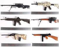1:4 métal assembler pistolet Mini alliage assemblage pistolet de Simulation Barrett Sniper fusil AWP SVD AK modèle garçon militaire modèle enfants jouets
