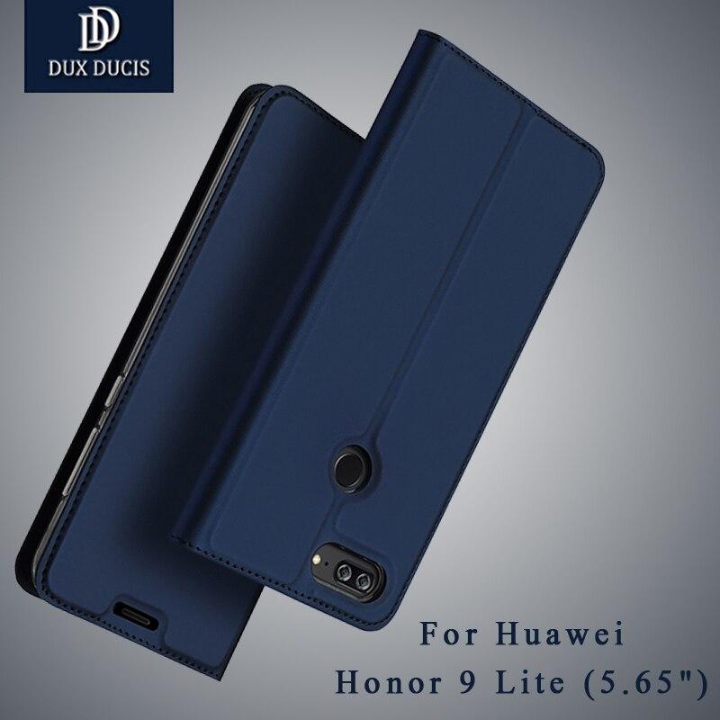 Pour Huawei Honor 9 Lite Flip Portefeuille En Cuir D'origine DUX DUCIS Cas Pour Honor9 Lite Flip Couverture Coque 5.65 Automatique wake-up case