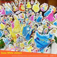6 Sheets/set Snow White wall stickers for children's room fashion decor Diary Notebook Label Stationery stickers