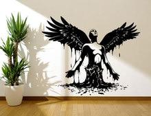 Wall Vinyl Decal Sticker Bedroom Decal Wings Angel Born Men Big Wings Angel God Guardian Bird For Kids Bedroom Dorm C405 couple bird wall decal