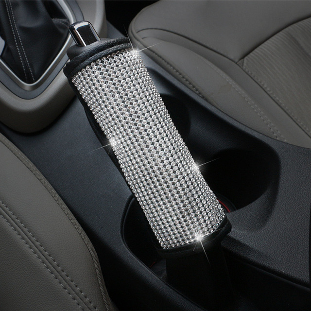 Bling Bling Car Gear Shift Cover Seat Belt Cover Waist Support Neck Pillow Wheel