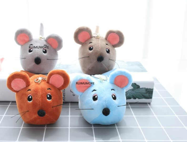 Lovely New Year Toy , 10CM Approx, keychain plush toy ,  Kid's Plush mouse Toy , gift little Plush Toys