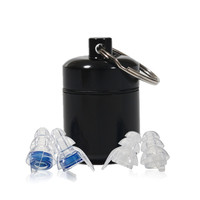 Hearing Protection High Fidelity Stadium Reusable Protective Earplugs With Carrying Aluminum Case Noise Filtering Hypoallergenic