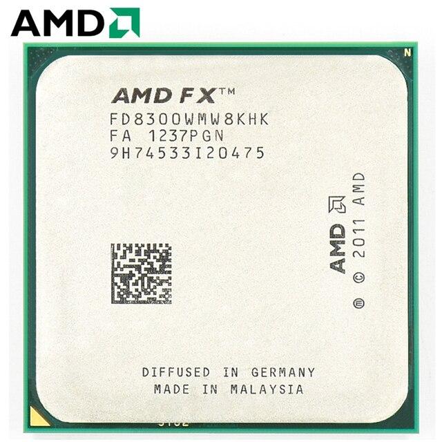 AMD FX סדרת FX 8300 שקע AM3 + 95W 3.3GHz 940 פינים שמונה Core שולחן העבודה מעבד מעבד fx8300 socket am3 +