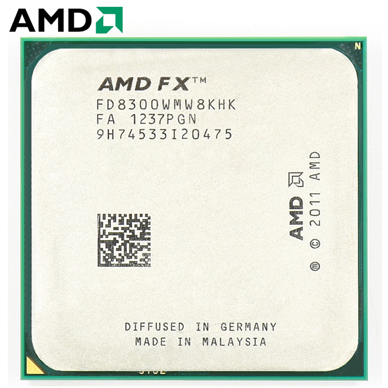 AMD FX-Series FX 8300 Socket AM3+ 95W 3.3GHz 940-pin Eight-Core Desktop Processor CPU Fx8300 Socket Am3+