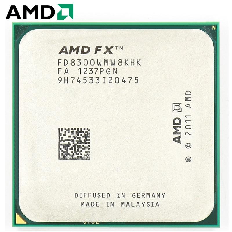 AMD FX-Series FX 8300 Socket AM3 + 95W 3.3GHz 940 broches processeur d'ordinateur de bureau à huit cœurs CPU fx8300 socket am3 +