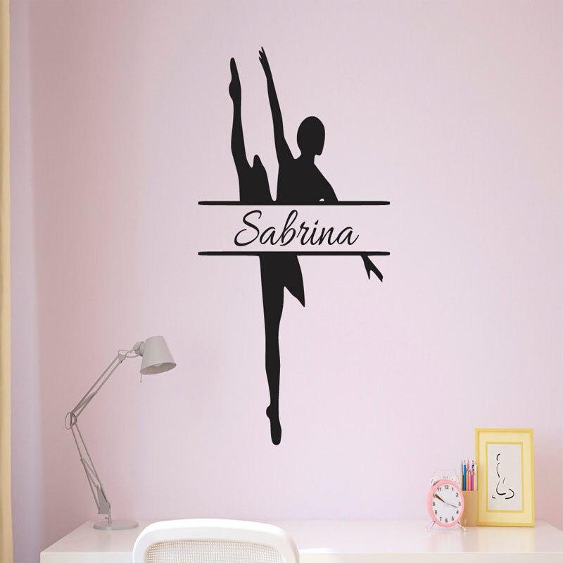 tema de la danza bailarina decorativo de la sala pegatinas vivero nias tatuajes de pared de