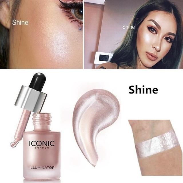 Face Highlighter Liquid Long-lasting Brighten Bronzers Cream Illuminator Makeup Shimmer Glow Facial Shiny Cosmetic Highlighter