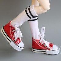 Оптовые Ассорти Цвета 7.5 см парусиновая обувь для BJD куклы мода мини игрушка Обувь 1/6 BJD Обувь для русская кукла Интимные аксессуары