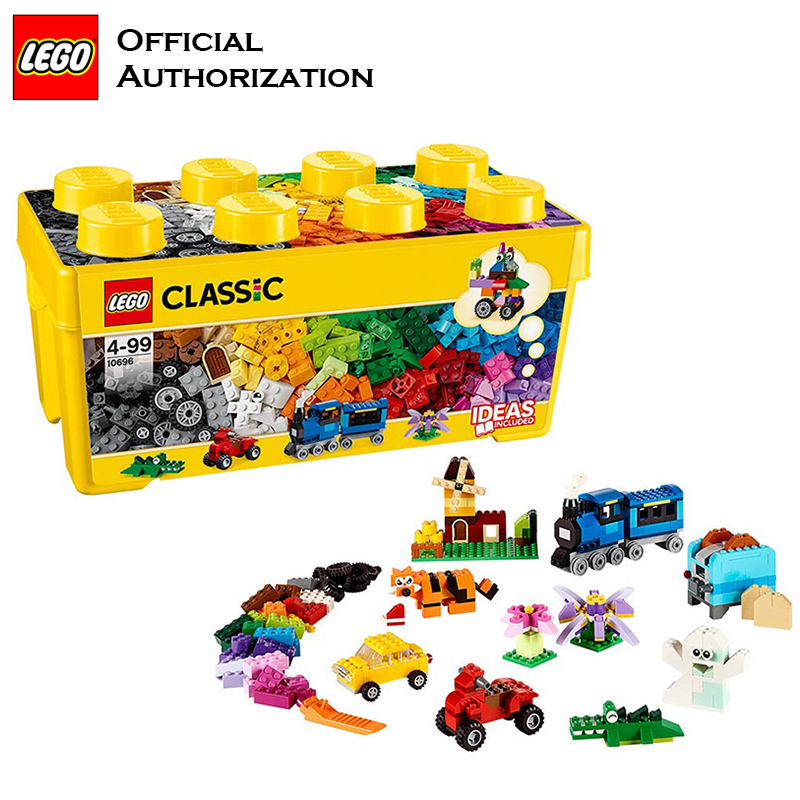 Lego Building Blocks Classic Series 790 pcs Accessories Toys <font><b>10696</b></font> Storage box Colorful Block Toys for Kids Birthday image
