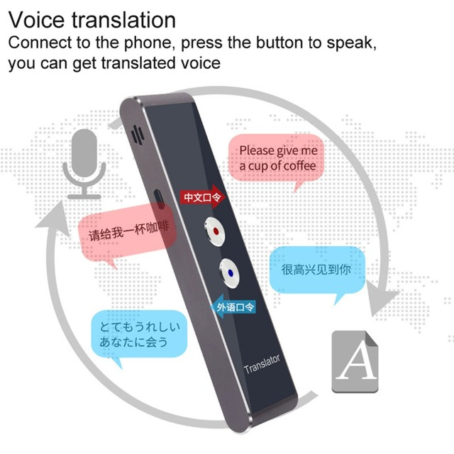 Pocket Language Translator Voice 30 Languages Two Way Real Time Intercom Portable Translator For Personal Learning Travelling 2