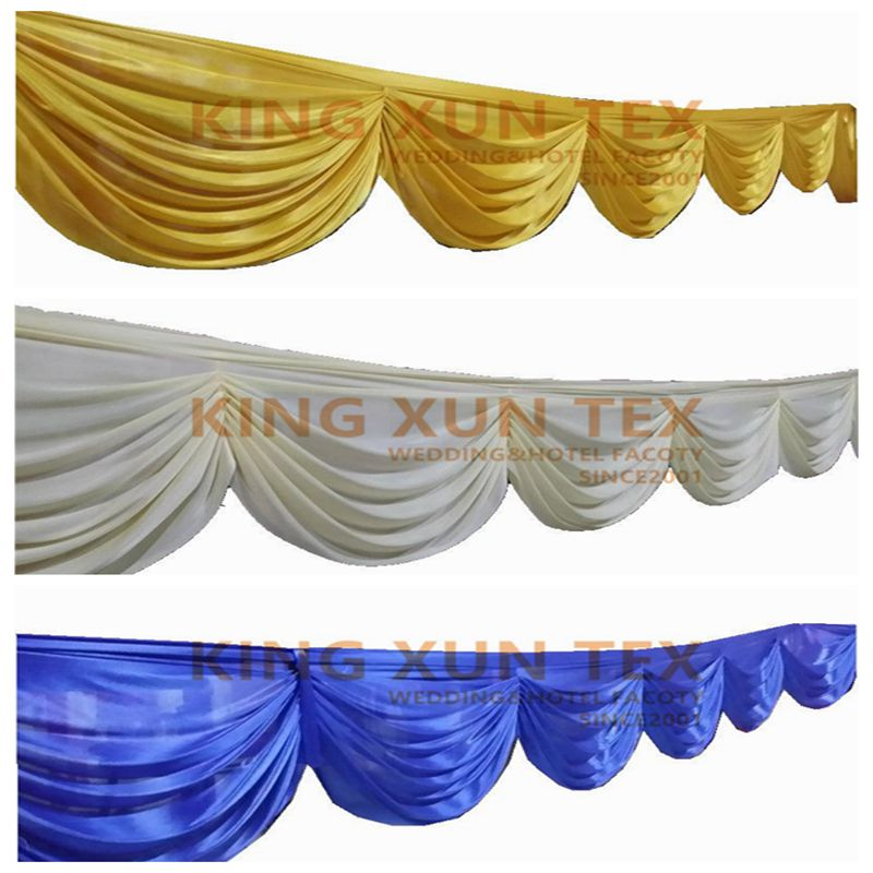 Good Quality Ice Silk Drape Swag Decoration For Event Party Wedding Backdrop Curtain Stage BackgroundGood Quality Ice Silk Drape Swag Decoration For Event Party Wedding Backdrop Curtain Stage Background