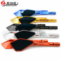 For Motorcycle Aluminum Motorcycle Pentagon Long Rearview Side Mirror For BMW K1600 K1300 K1200R K1200S R1200RT