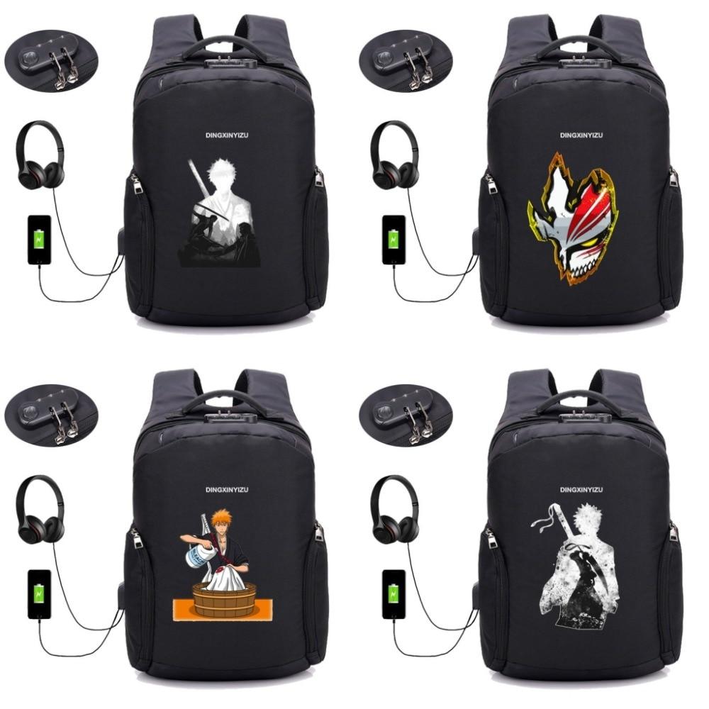 anime bleach Backpack 16 inch Men Laptop Backpacks Multifunction USB Charge Computer Backpacks Anti-theft Backpack 10 styleanime bleach Backpack 16 inch Men Laptop Backpacks Multifunction USB Charge Computer Backpacks Anti-theft Backpack 10 style