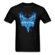 Mężczyźni Supernatural Hells Wings music tour koszule z krótkim rękawem fioletowe koszulki dla mężczyzn odzież klasyczny kołnierz