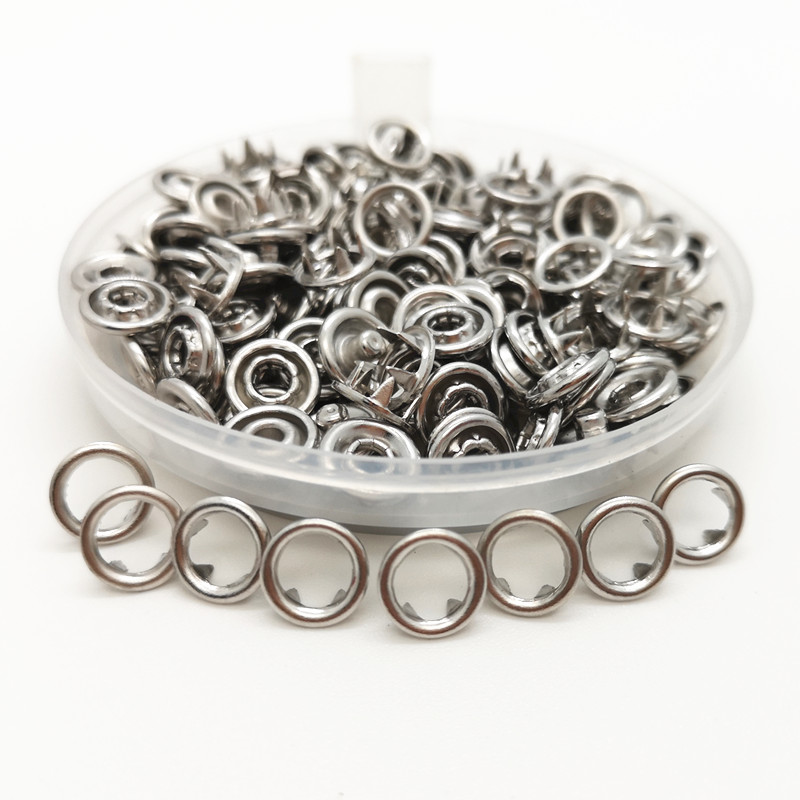 Metal Press 7.2 mm metal prong snap Buttons Fasteners rivets Poppers baby sliders buckles