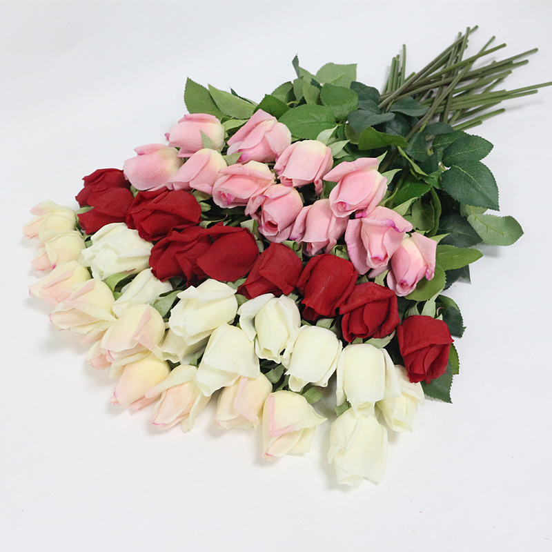 Flone Artificial Rose Flowers Real Touch Flower Simulation Latex Flower Branch Bouquet Wedding Home Party Table Decor Floral