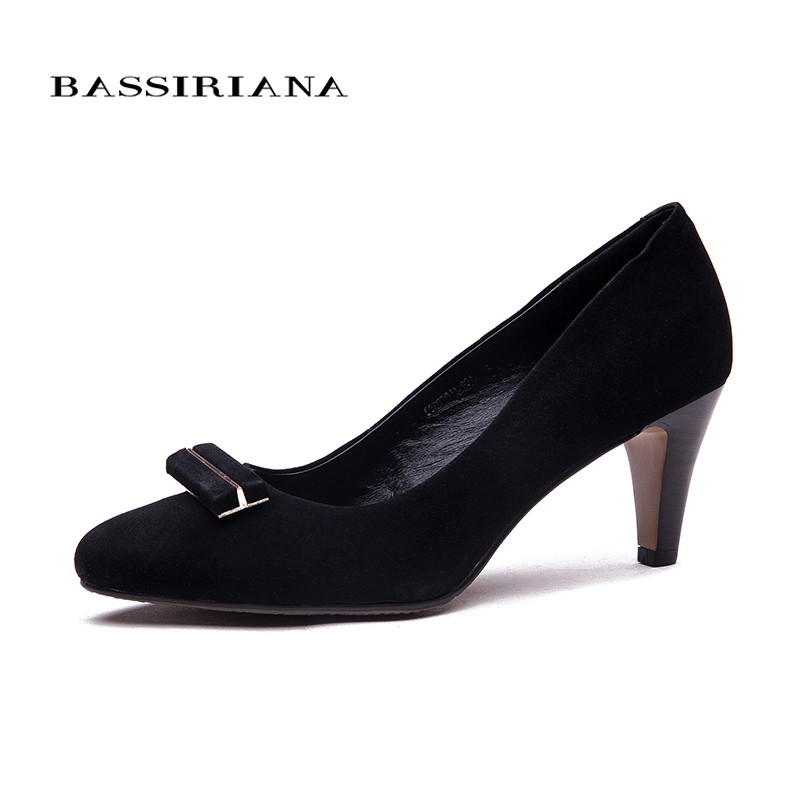 BASSIRIANA 2017 Nwe Fashion High-heeled Shoes Women's Pumps Pointed Toe Thin Heel Sweet Women Shoes Sexy Beautiful Single Shoes 2017 new summer women flock party pumps high heeled shoes thin heel fashion pointed toe high quality mature low uppers yc268