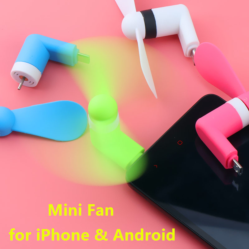 Micro USB Fan Flexible Mini Fans Cooler Cellphone Hand Fan For Samsung Xiaomi Android Phone Fan For IPhone 5 6 6s 7 Plus 8 X XR