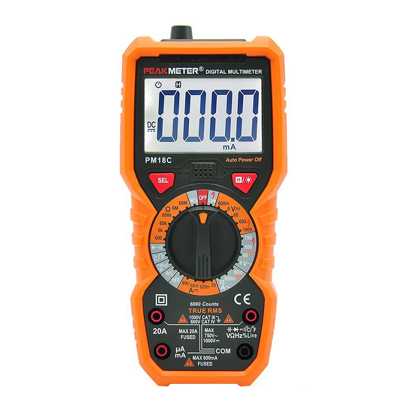 PM18C Digital Multimeter Measuring Voltage Current Resistance Capacitance Frequency Temperature hFE NCV Live Line Tester the new high quality imported green cowboy training cow matador thrilling backdrop of competitive entrance papeles