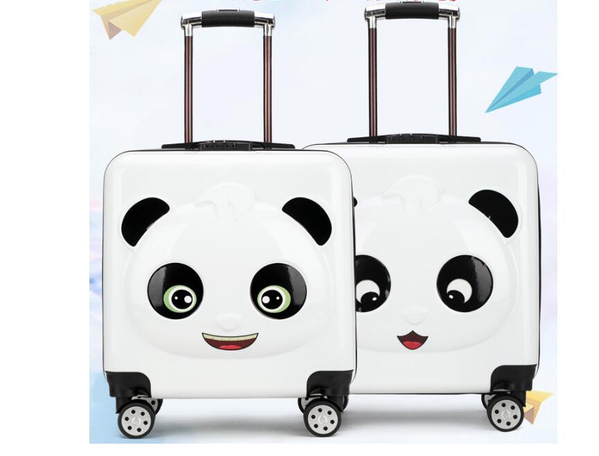 Panda Kid bagaglio valigia Trolley borse Da Viaggio su ruote Bambino ruote portare avanti bagaglio Spinner Bambini valigia di Rotolamento per il Ragazzo-in Valigia a rotelle da Valigie e borse su  Gruppo 2