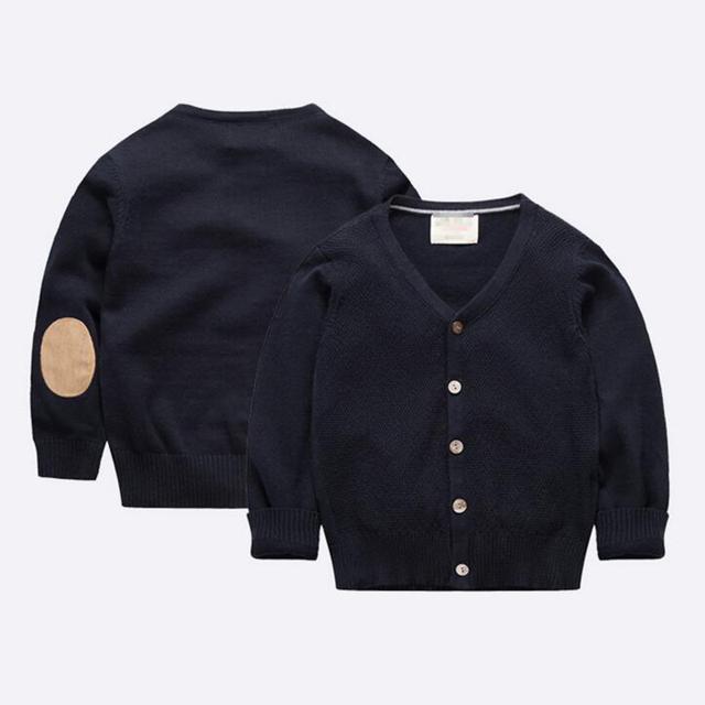 2016 Primavera Outono Meninos Roupas Jumpers Natal Suéter de Malha Blusas Crianças Juventude Menino Top Malha de Algodão Outwear