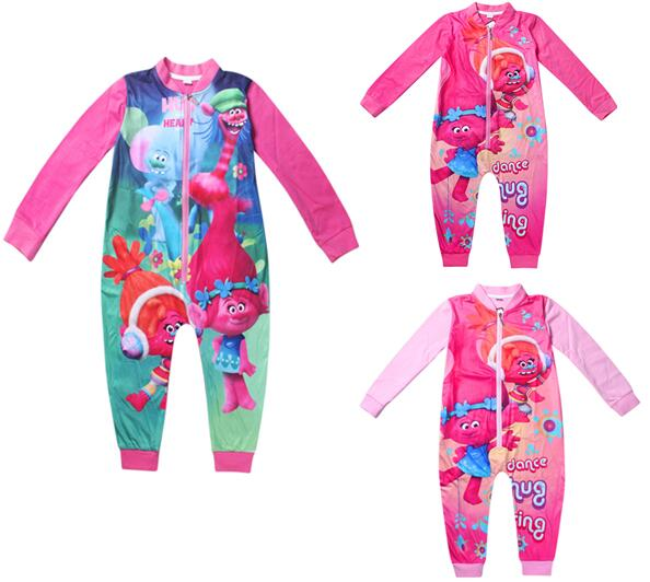 819d724ce7 Cartoon Jumpsuits Girls Clothing Long Sleeves Baby Rompers Zipper Tracksuit Girls  Pajamas Kids Children s Sleepwear Nightgown