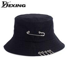 4b800f0ca2dea Wholesale BTS Fashion K POP Iron Ring Bucket Hats Popular Style Cap 100%  Handmade Rings