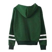 осень hooeded толстовка для женщин пуловер в полоску с длинными рукавами уличная флисовые толстовки новая мода