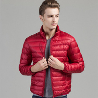 Hot Sale Winter Jacket Men White Duck Jacket Ultra Light Jacket Coat For Men Slim Fit Men's Winter Jacket Coat Plus Size S XXXXL