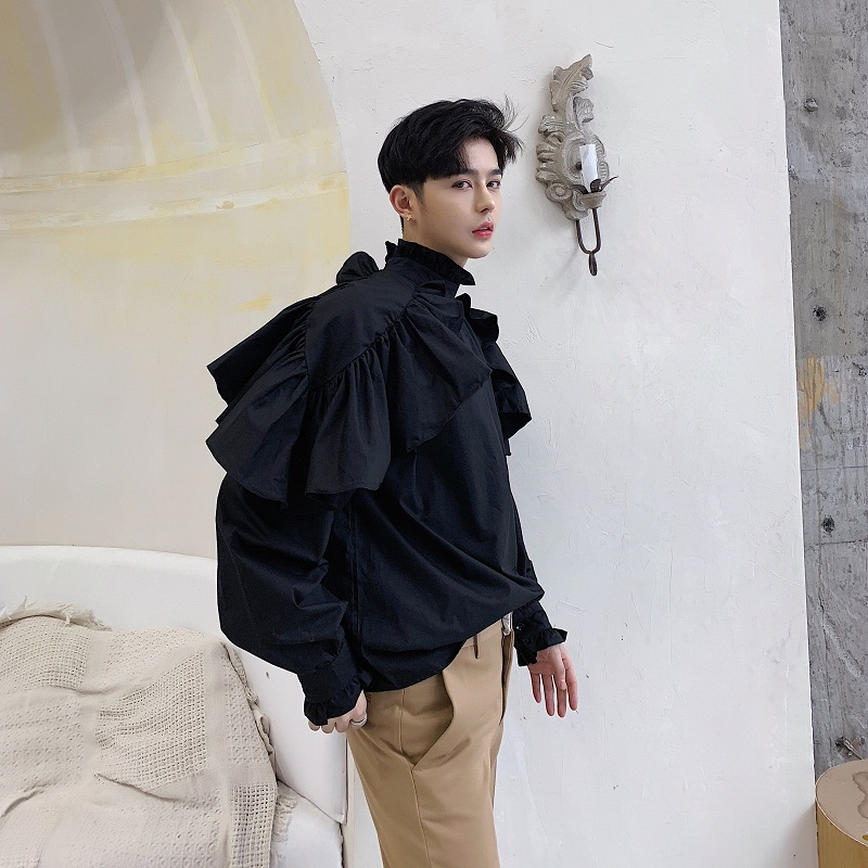 Men New Low Crotch Cross Casual Pant Japan Streetwear Loose Hip Hop Dark Black Harem Trouser