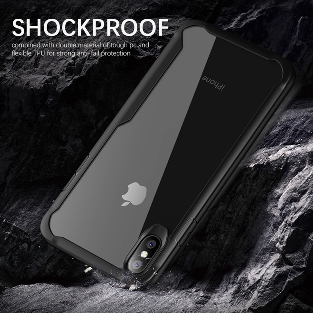 Image 2 - Heyytle Shockproof Armor Case For iPhone 7 8 Plus 6 6s Transparent Cover For iPhone X XS MAX XR Soft TPU Cases Drop proof Coque-in Fitted Cases from Cellphones & Telecommunications