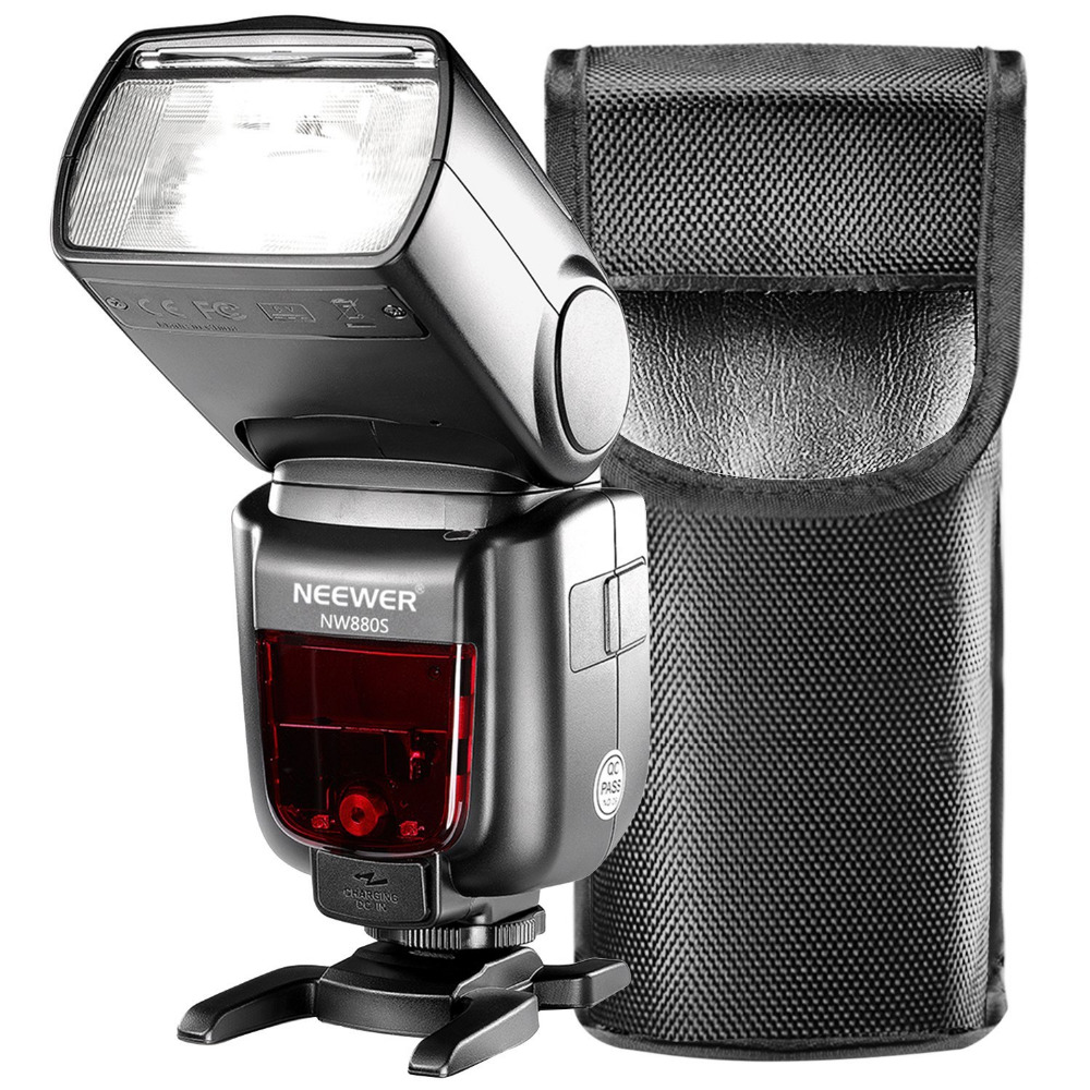 Neewer TTL Flash for Sony New Mi Hot Shoe GN60 HSS 2.4G Wireless 1/8000 Master Slave Speedlite for Sony A77II A7RII A7R A58 A99 neewer 2 4g wireless 1 8000s hss ttl master slave flash speedlite kit for sony