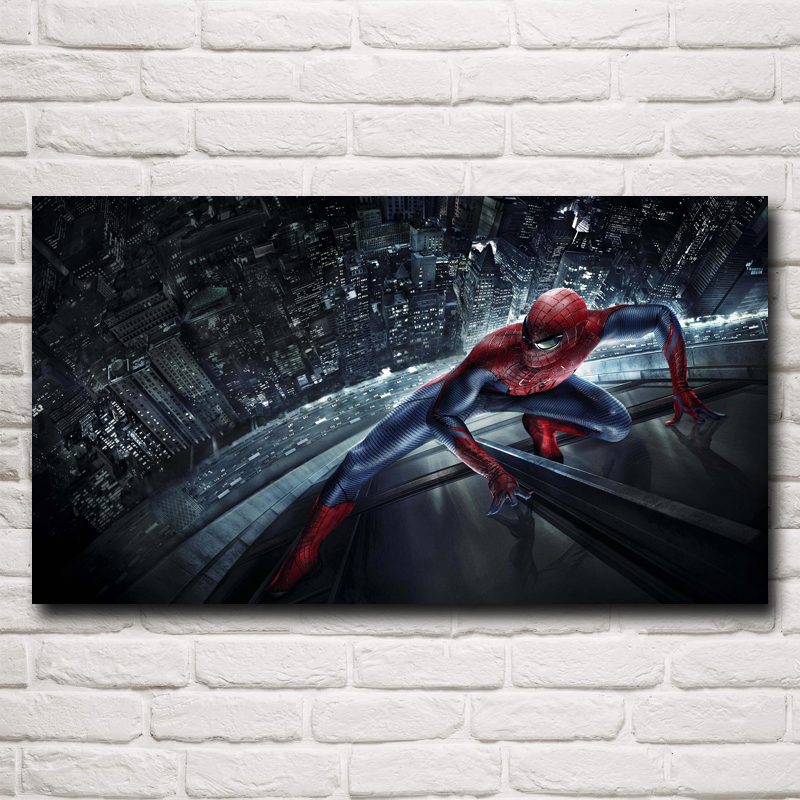 Super Hero Spider-Man Movie Art Silk Fabric Poster Print Home Wall Decor Picture 11x20 16x29 20x36 Inches Free Shipping