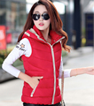 2017 down cotton vest female short design with a hood slim fashion vest outerwear  thickening thermal top Cheap wholesale