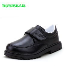 hot deal buy 2019 new formal shoe for kids boys black children boy walking shoes anti-slip school perform boys shoes wearable casual footwear