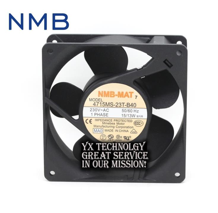 NMB The new all-metal DC fan 4715MS-23T-B40 12CM 230V 12038 cabinet fan 120*120*38mm