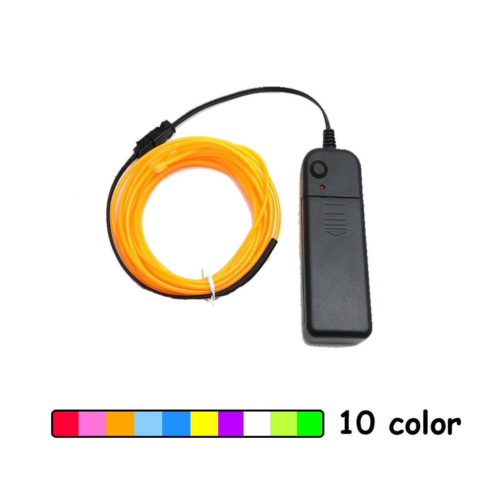 1m/2m/3m/5m Neon Light Car Dance Party Decor Light Neon LED lamp Flexible EL Wire Rope Tube Waterproof LED Strip With Controller jingxiangfeng 1 5 meter neon light car decoration light neon led lamp flexible el wire rope tube waterproof led strip with 12v