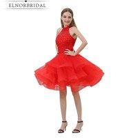 Недорогое красное домашнее платье 2019 Бисероплетение органза Vestido Curto De Festa Luxo импортные вечерние платья Короткое платье на выпускной