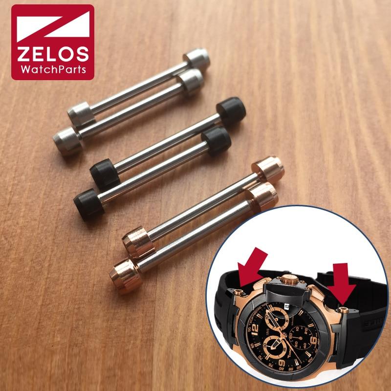 28mm Inner Hexagon Watch Screw Tube Rod For Tissot T Race T-sport T048 MotoGP Watch Lug Link Kit Parts(rose Gold/black/silvery)
