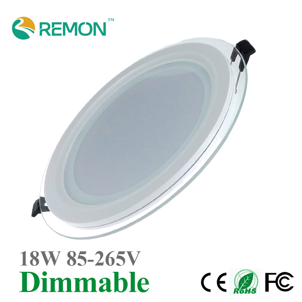 Super Bright 18W Dimmable LED Panel Light Glass Ceiling
