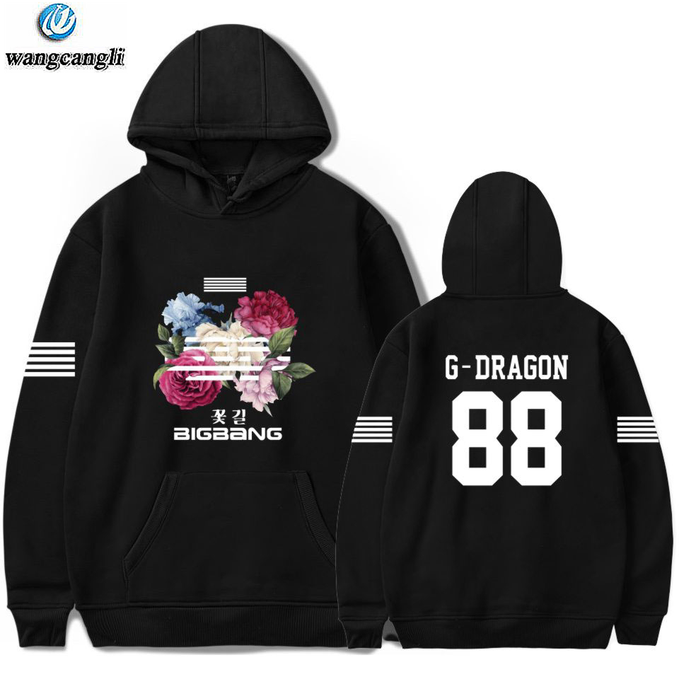 <font><b>Bigbang</b></font> big bang bangtan hoodie kpop korean harajuku hoodies sweatshirt moletom feminino fashion brand Jacket coat plus size 4xl image