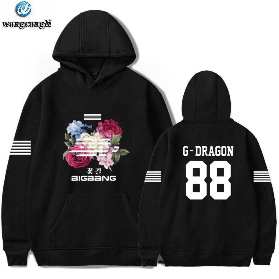 Bigbang Big Bang Bangtan Hoodie Kpop Korean Harajuku Hoodies Sweatshirt Moletom Feminino Fashion Brand Jacket Coat Plus Size 4xl