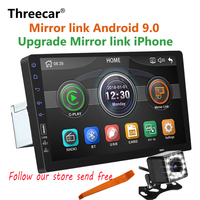 New Built in Mirror link iPhone Android 9.0 2din Car radio 9 inch Bluetooth USB Rear View Camera MP5 Player One Din Autoradio