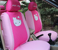6 шт. Мультфильм Универсальный Hello Kitty Автокресло Охватывает множество Универсальный Автомобиль Аксессуары Для интерьера-Только два передних сиденья