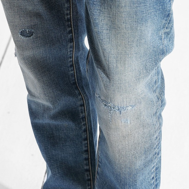 Ripped Slim Fit Denim Jeans For Men 4