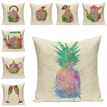 купить Color printing Fruit Sofa Decorative Cushions Simple Pillow Cases Art  Seat Accessories Daily Necessities Pillow For Chair Home дешево