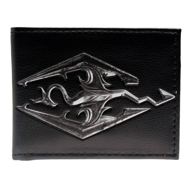 Skyrim Bi-fold PU Wallet DFT-1604 5000 roubles style fold up pu wallet white multicolored