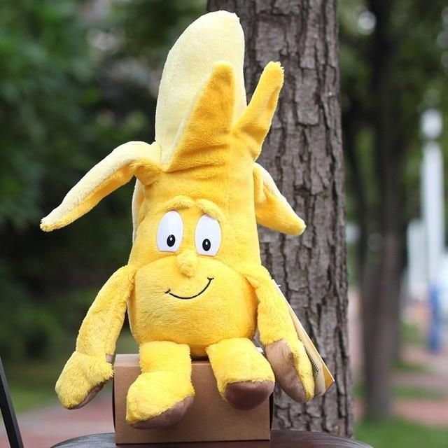Детские мягкие игрушки детские развивающие игрушки красочные фрукты овощи 10-35 см Рождественский подарок - Цвет: Banana