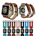 Genuine Leather Double Buckle Cuff Bands Strap Watchband for Apple Watch Series 2/1 38/42mm